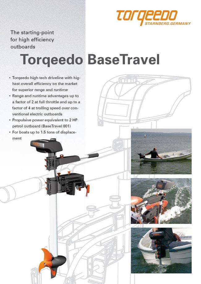 Torqeedo Base Travel elektromos csónakmotor
